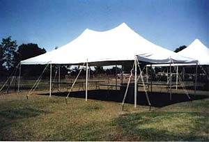Used 20'X30' Stake and Pole Tent