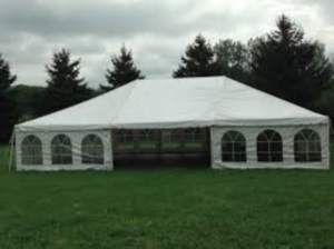 15 x 45 White Free-Standing Tent