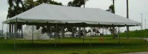 15 x 30 White Free-Standing Tent