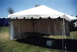 15 x 15 White Free-Standing Tent