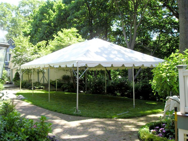 20 x 30 White Free-Standing Tent