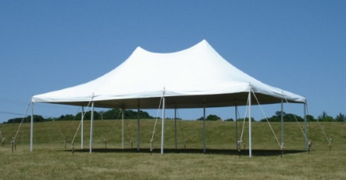 20 x 30 White Stake and Pole Tent