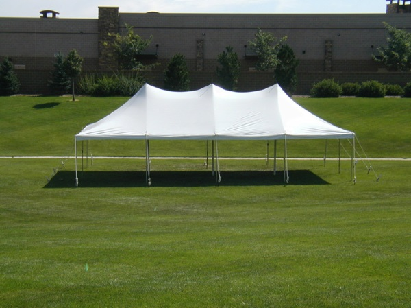 20 x 40 White Stake and Pole Tent