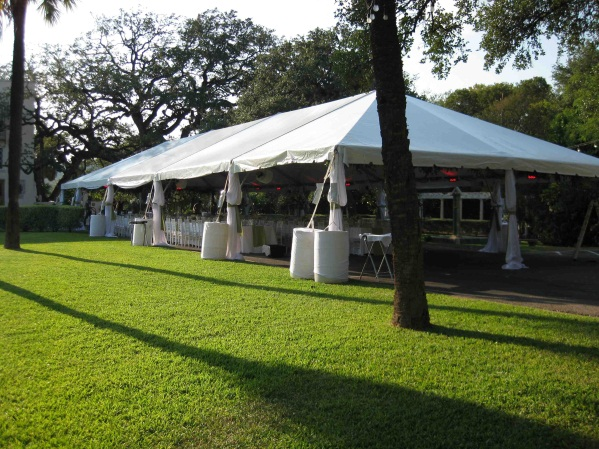 30 x 75 White Free-Standing Tent
