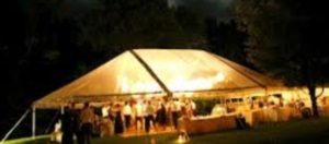 30 x 50 Clear Top Free-Standing Tent With Gable Ends