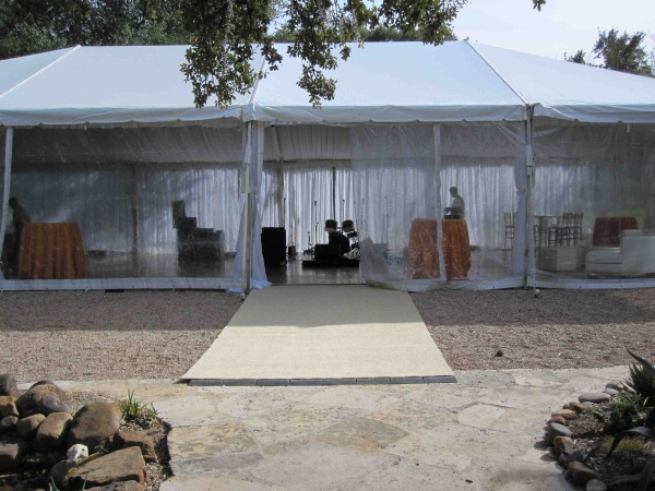 30 x 60 White Free-Standing Tent