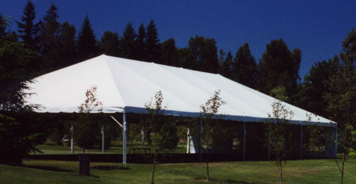 30 x 90 White Free-Standing Tent