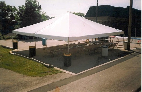 30 x 30 White Free-Standing Tent