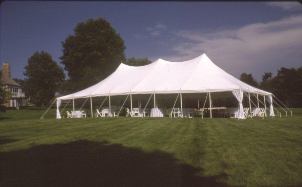 30 x 60 White Stake and Pole Tent