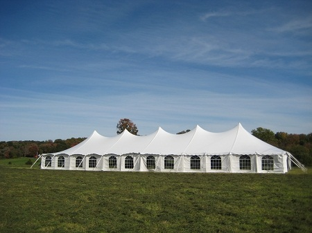 40 x 120 White Stake and Pole Tent
