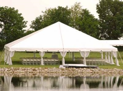 40 x 40 White Free-Standing Tent