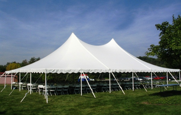 40 x 60 White Stake and Pole Tent