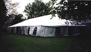 40 x 70 White Free-Standing Tent