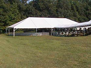 40 x 85 White Free-Standing Tent