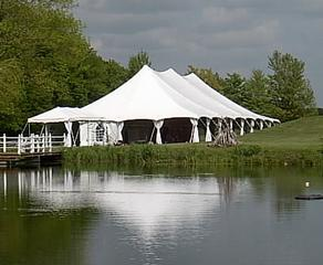 50 x 100 White Stake and Pole Tent