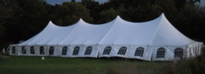 50 x 130 White Stake and Pole Tent