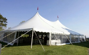 50 x 70 White Stake and Pole Tent