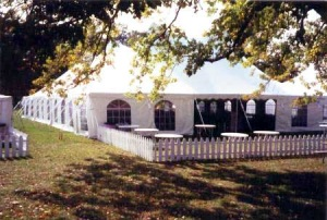 60 x 190 White Stake and Pole Tent