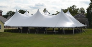 80 x 100 White Stake and Pole Tent