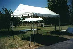 9 x 10 White Free-Standing Marquee Walkway