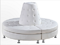 White Lounge Cone Seat-Full Setup