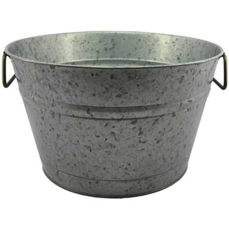 Galvanized Steel Round Bev. Tub