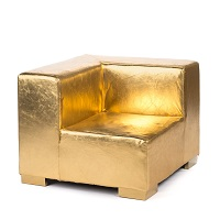 Gold Lounge Square Corner