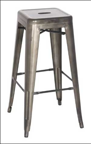 Rustic Steel Bar Stool