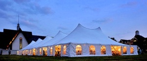 60 x 160 White Stake and Pole Tent