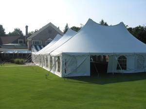 60 x 100 White Stake and Pole Tent