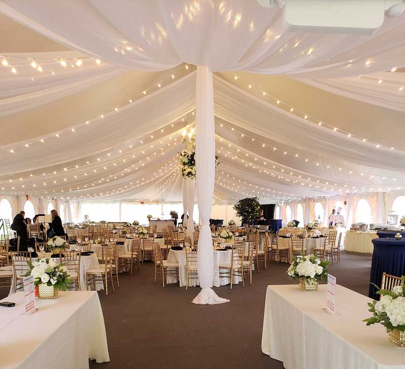 Tent Ceiling Draping & Decorating