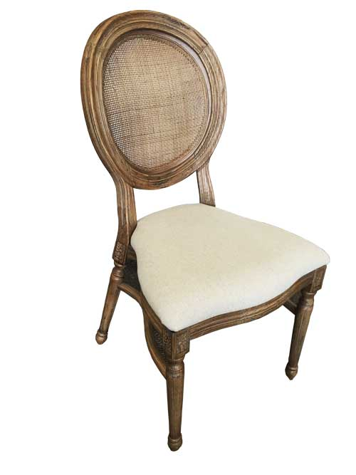 Wicker Back King & Queen Chair