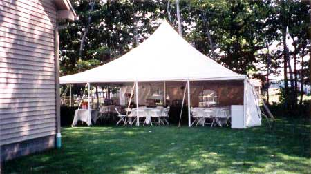 30 x 30 White Stake and Pole Tent
