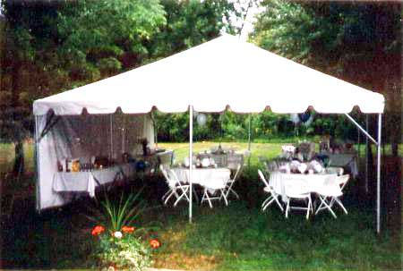 20 x 20 White Free-Standing Tent