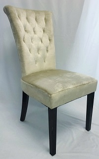 High Back Champagne King & Queen Chair
