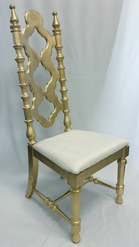 Gold Wood King & Queen Chair