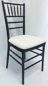 Mahogany Chiavari Chair with ivory cushion seat