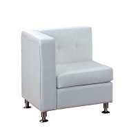 White Modular Arm Chair Piece