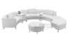 White Curved Furniture