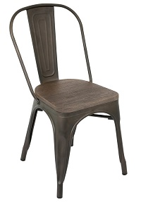 Rustic Wood & Steel Chair