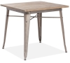 Rustic Wood & Steel Table