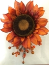 Burnt Orange Sunflower Spray