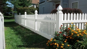 40'' High White Picket PVC Fencing