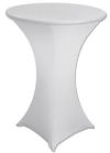 Spandex Bistro Table Cover (White or Black)