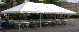 15 X 60 White Free-Standing Tent Rental
