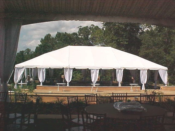 40' x 60' White Free-Standing Tent Rental