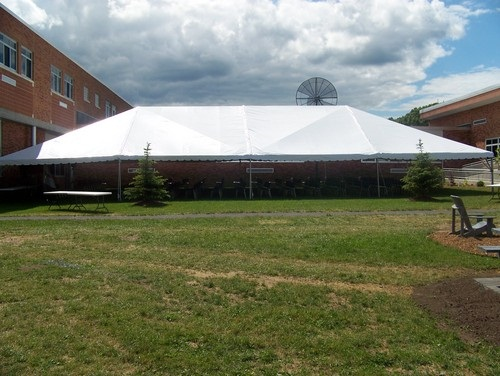 40' x 80' White Free-Standing Tent Rental