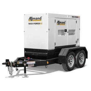 45KW Tow Behind Generator with Fuel Rentals