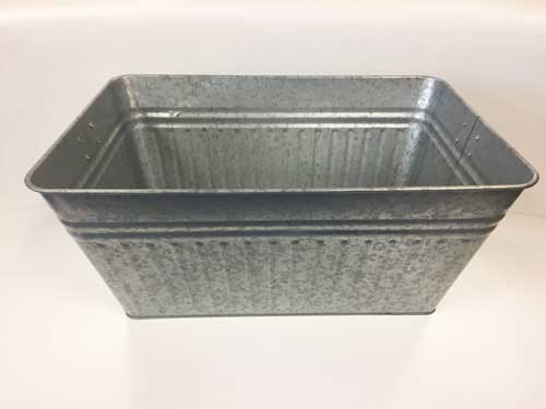 Galvanized Steel Rectangular Bev. Tub