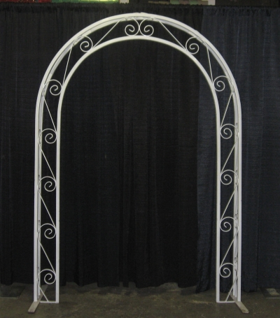 White Wrought Iron Archway Rental